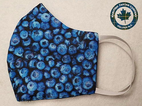 Blueberry Print Face mask - ALLOW UP TO 10 BUSINESS DAYS FOR SHIPPING