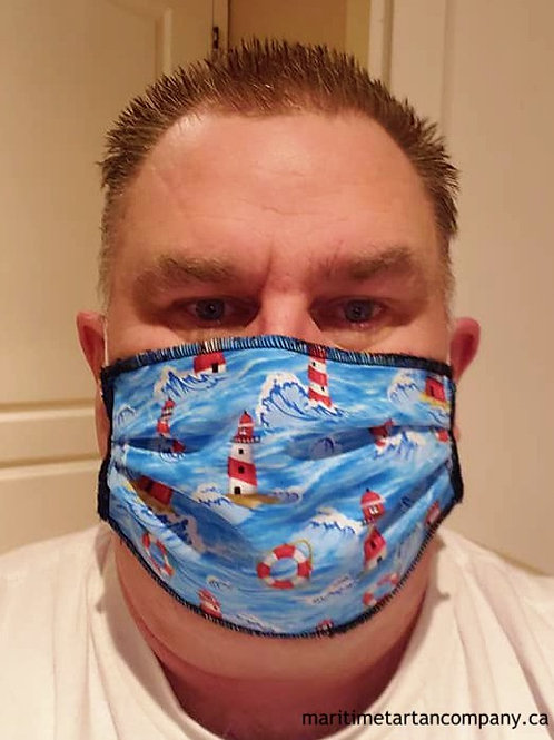 Lighthouse Print Face Mask - ALLOW UP TO 10 BUSINESS DAYS FOR SHIPPING