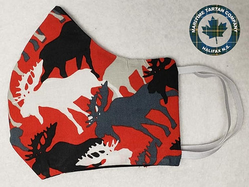 Moose Print Face Mask - ALLOW UP TO 10 BUSINESS DAYS FOR SHIPPING