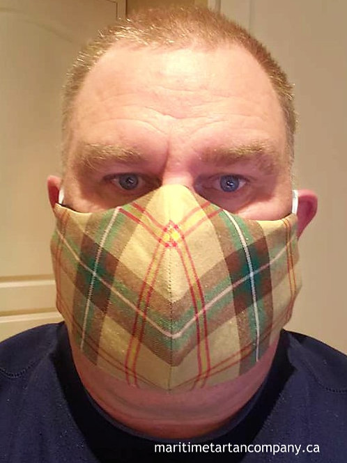 Saskatchewan Tartan Face Mask - PLEASE ALLOW UP TO 10 BUSINESS DAYS FOR SHIPPING