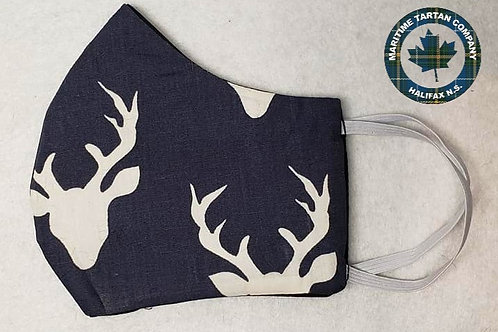 Deer Head Print Face Mask - ALLOW UP TO 10 BUSINESS DAY FOR SHIPPING