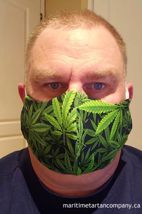 Cannabis Leaf Face Mask - ALLOW UP TO 10 BUSINESS DAYS FOR SHIPPING