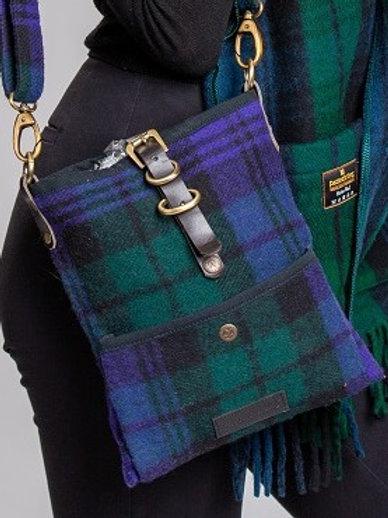 Black Watch Tartan Deluxe Wool Islay Cross Body Bag