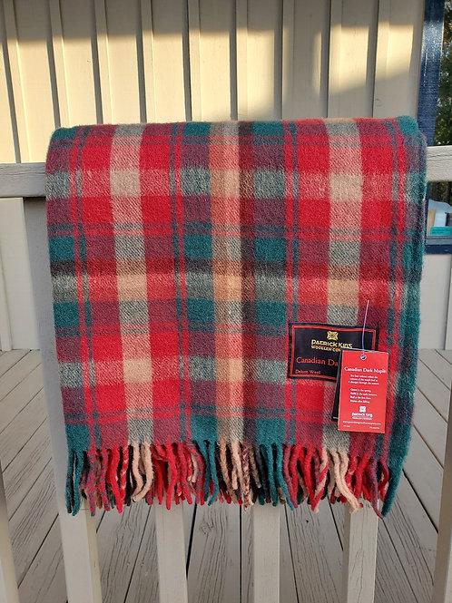 Dark Maple Tartan Deluxe Merino Wool Blanket