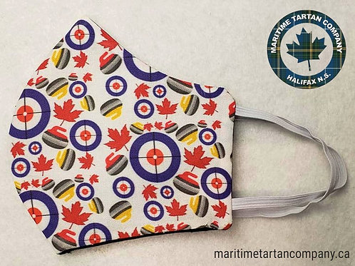 Curling Print Face Mask - ALLOW UP TO 10 BUSINESS DAYS FOR SHIPPING