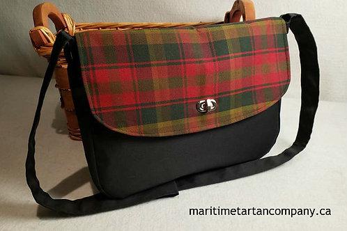Canadian Maple Tartan Messenger Bag