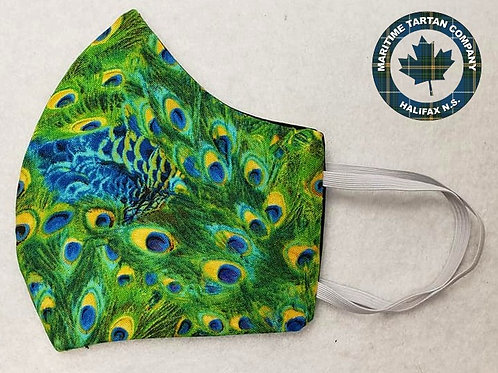 Peacock Print Face Mask - ALLOW UP TO 10 BUSINESS DAYS FOR SHIPPING
