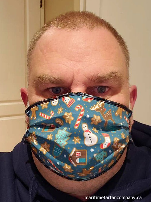 Christmas Print Mask- ALLOW UP TO 10 BUSINESS DAYS FOR SHIPPING