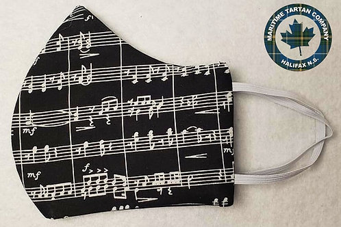 Music Note Print Face Mask - ALLOW UP TO 10 BUSINESS DAYS FOR SHIPPING