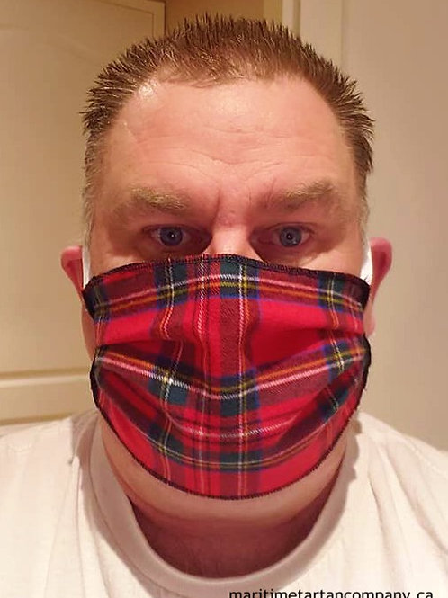 Royal Stewart Tartan Face Mask - ALLOW UP TO 10 BUSINESS DAYS FOR SHIPPING