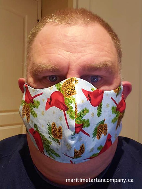Cardinal Print Face Mask - ALLOW UP TO 10 BUSINESS DAYS FOR SHIPPING