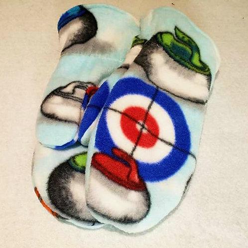 Curling Fleece Mittens