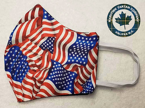 America Print Face Mask - ALLOW UP TO 10 BUSINESS DAYS FOR SHIPPING