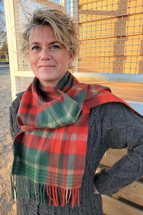 New Brunswick Tartan Lambs Wool Scarf