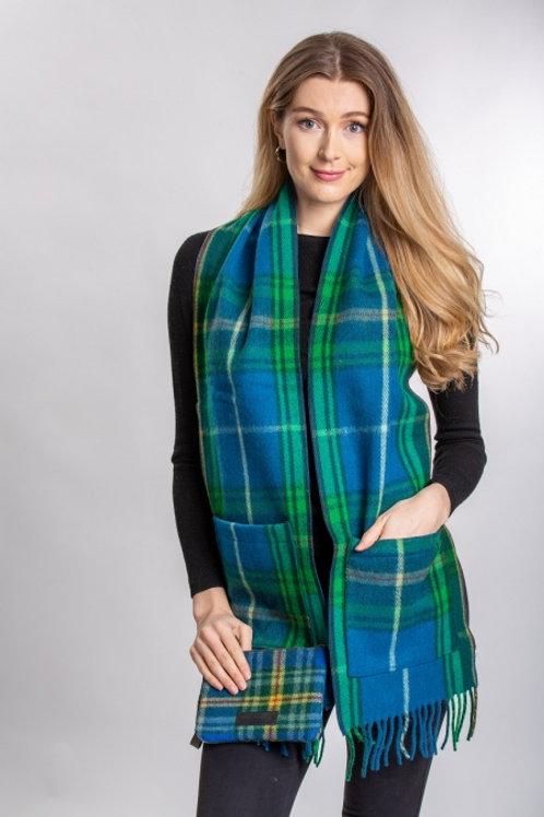 Nova Scotia Tartan Wool Pocket Scarf