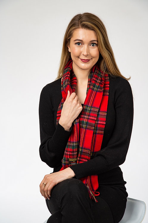 Royal Stewart Tartan Lambs Wool Scarf