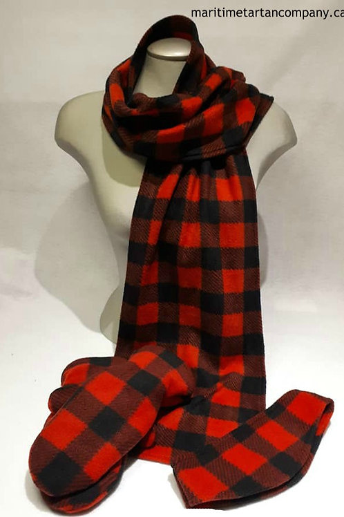 Red and Black Check Winter Set