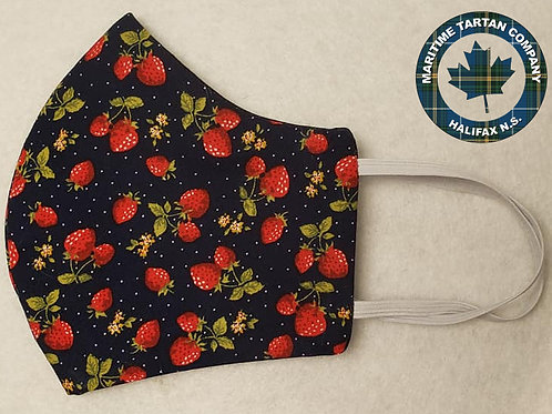Strawberry Print Face Mask - ALLOW UP TO 10 BUSINESS DAYS FOR SHIPPING