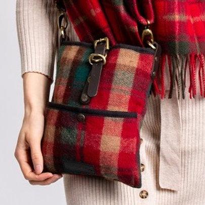 Dark Maple Tartan Deluxe Wool Islay Cross Body Bag