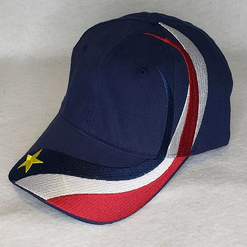 Acadian Flag Wrap Hat