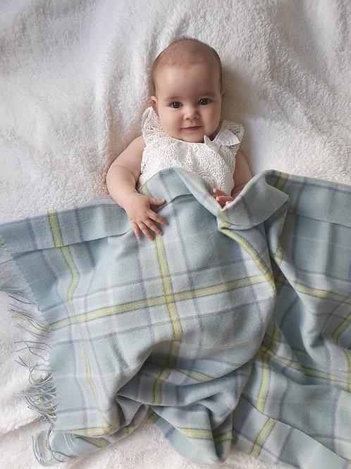 Little Lamb Lambswool Baby Blanket Blue