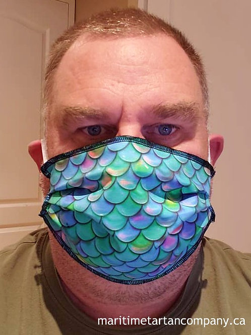 Mermaid Print Face Mask- ALLOW UP TO 10 BUSINESS DAYS FOR SHIPPING
