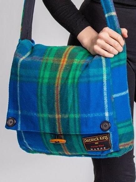 Nova Scotia Tartan Merino Wool Keri Messenger Bag