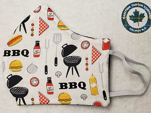 BBQ Print Face Mask - ALLOW UP TO 10 BUSINESS DAYS FOR SHIPPING