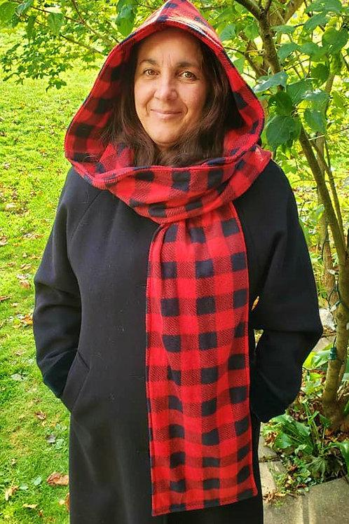Hooded Scarf - 2 Layers of fleece