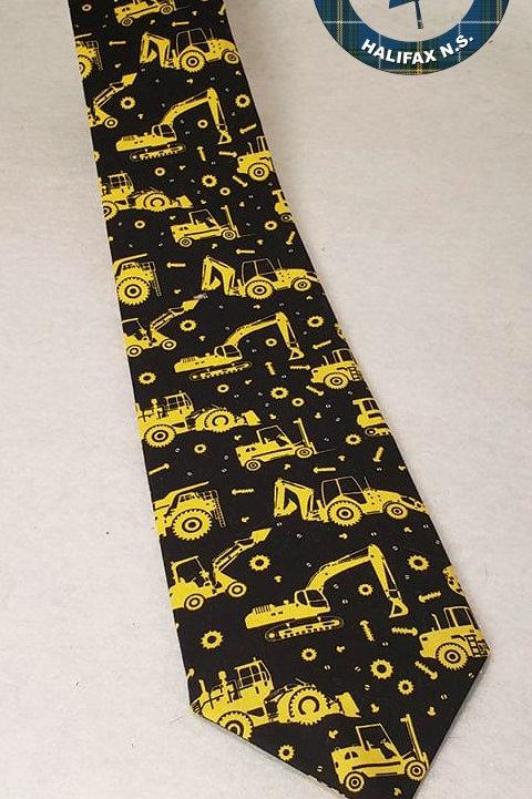 Tractor Print Tie