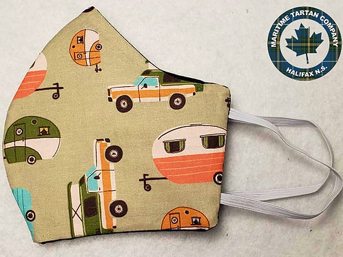 Camper Print Face Mask - ALLOW UP TO 10 BUSINESS DAYS FOR SHIPPING