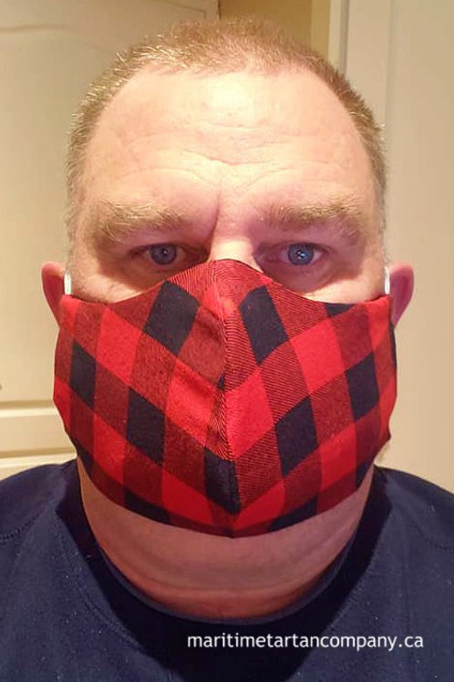 Red / Black Check Face Mask - ALLOW UP TO 10 BUSINESS DAYS FOR SHIPPING