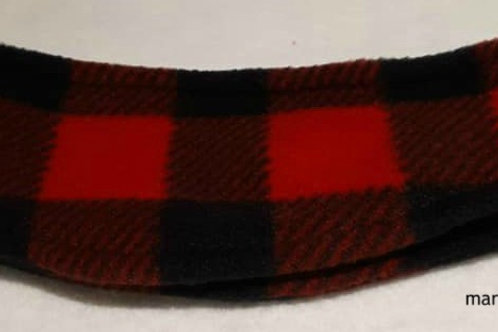 Red and Black Check Ear Warmer
