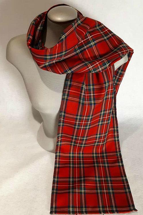 Royal Stewart Tartan 6 foot light scarf