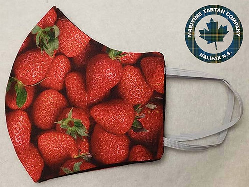 Real Strawberry Print Face Mask - ALLOW UP TO 10 BUSINESS DAYS FOR SHIPPING