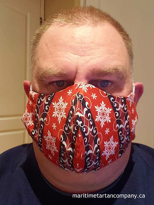 Crazy Snow Print Face Mask - ALLOW UP TO 10 BUSINESS DAYS FOR SHIPPING