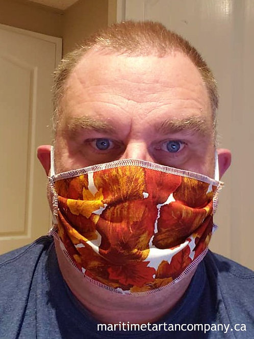 Fall Leaves Face Mask- ALLOW UP TO 10 BUSINESS DAYS FOR SHIPPING