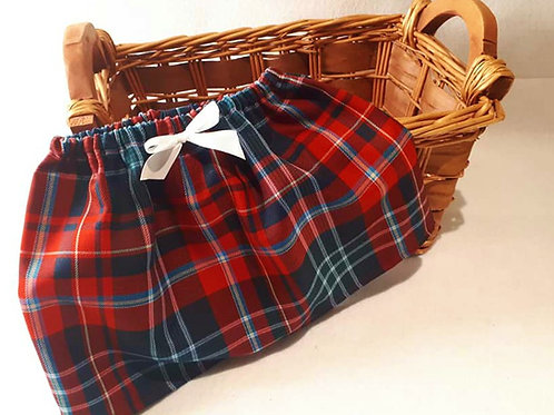 New Brunswick Tartan Child's Shirt and matching headband with bow