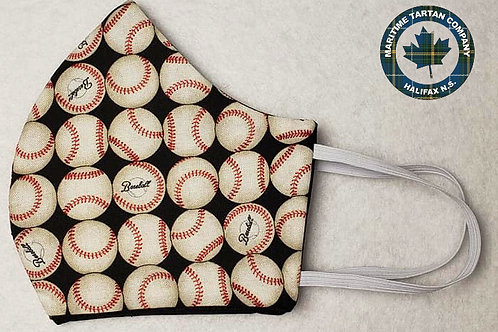 Baseball Print Face Mask - ALLOW UP TO 10 BUSINESS DAYS FOR SHIPPING