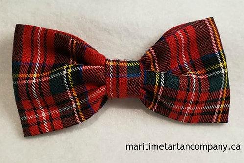 Royal Stewart Tartan Clip On Bow Tie (Adult)