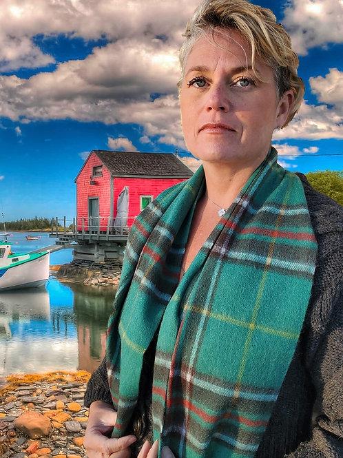 Newfoundland Tartan Lambs Wool Scarf