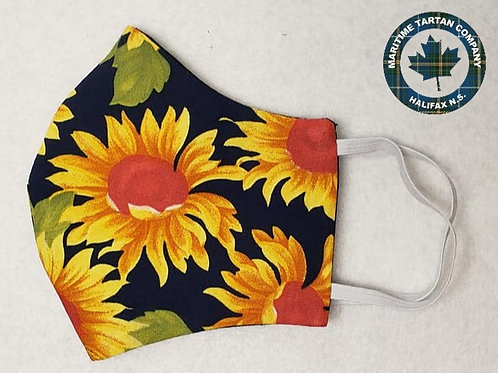 Sunflower Print Face Mask - ALLOW UP TO 10 BUSINESS DAYS FOR SHIPPING