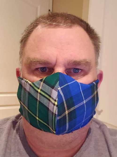 2 Tartan Nova Scotia / Cape Breton Mask - ALLOW UP TO 10 BUSINESS DAYS SHIPPING