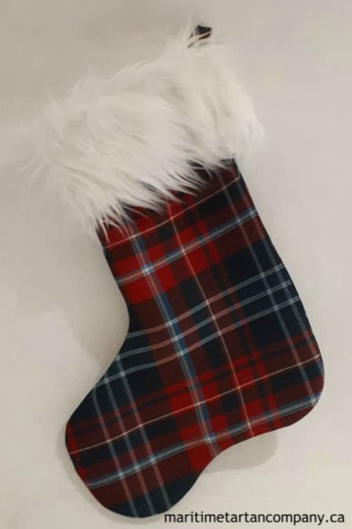 New Brunswick Tartan Christmas Sock - Poly / Viscose