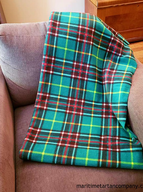 Newfoundland Tartan Fleece Throw