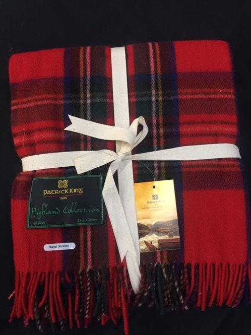 Royal Stewart Tartan Deluxe Merino Wool Blanket
