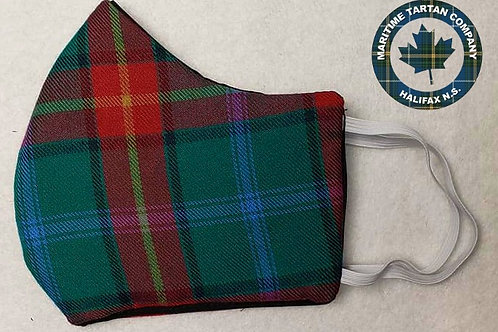 Manitoba Tartan Face Mask - ALLOW UP TO 10 BUSINESS DAYS FOR SHIPPING