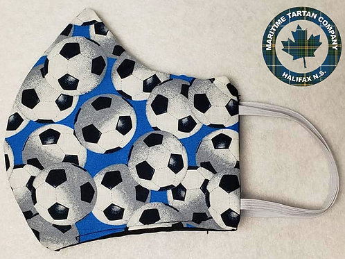 Soccer Print Face Mask - PLEASE ALLOW UP TO 10 BUSINESS DAYS FOR SHIPPING