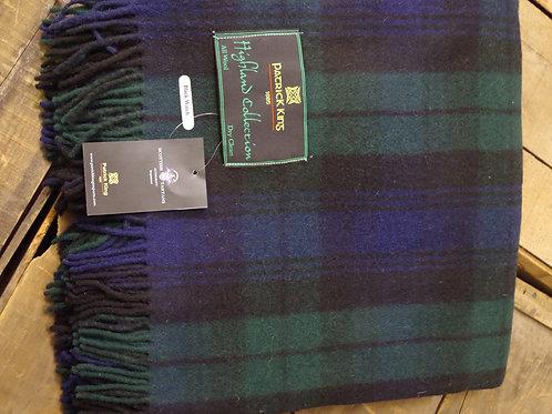 Black Watch Tartan Deluxe Merino Wool Blanket