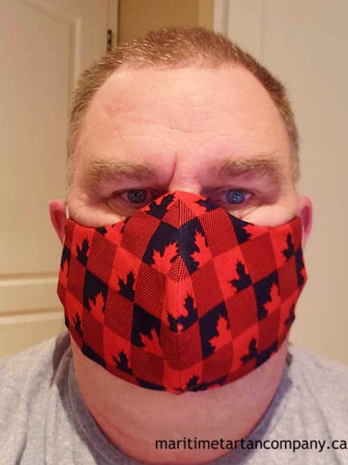 Buffalo Check Canada Face Mask - ALLOW UP TO 10 BUSINESS DAYS FOR SHIPPING